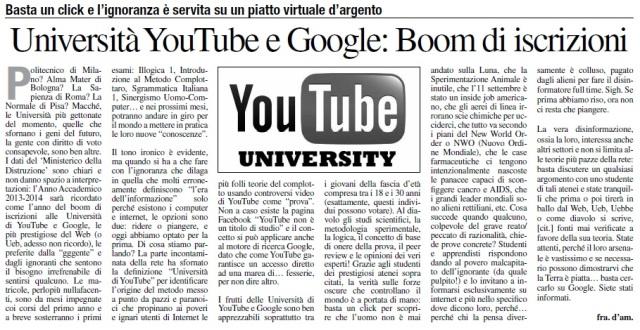 Università di YouTube e Google, è boom di iscrizioni
