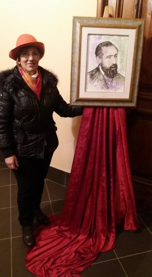 Vincenzo Ammirà riprodotto da Catwrina Rizzo con la difficile tecnica dell'acquerello